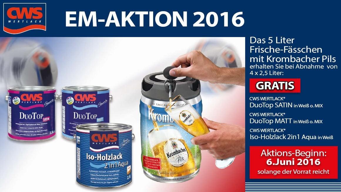 Binkele Grosshand Gemmingen - CWS EM-Aktion 2016: Korbmacher Bierfässchen GRATIS!