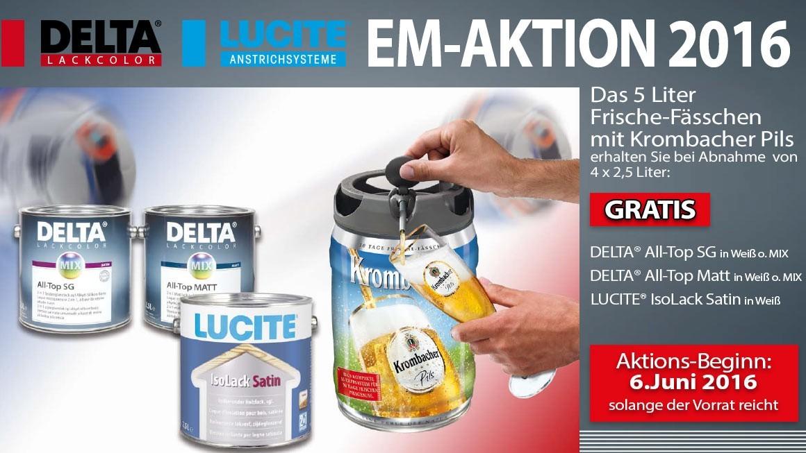 Binkele Grosshand Gemmingen - LUCITE & DELTA EM-Aktion 2016: Korbmacher Bierfässchen GRATIS!