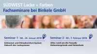 Binkele Gemmingen - Südwest Fachseminar: Schimmel und KlimaKomfort-System, Zukunft der Lacksysteme, Alles rund um die Fassade, Holzuntergründe und Holzschutz