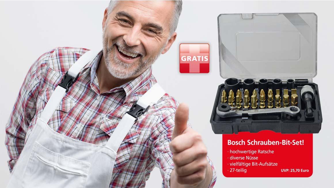 Binkele Farben Großhandel - Bosch Bit-Set Aktion