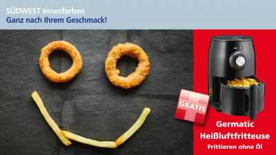 Binkele Farben, Lacke & Tapeten Grosshandel - SÜDWEST Innenfarben Aktion: Heißluftfritteuse GRATIS!