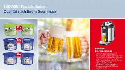 Binkele Farben, Lacke & Tapeten Grosshandel - SÜDWEST Fassadenfarben Aktion: Zapfanlage