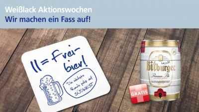 Binkele Farben, Lacke & Tapeten Grosshandel - SÜDWEST Weißlack Aktion: Freibier
