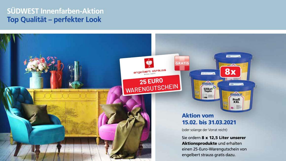Binkele Farben, Lacke & Tapeten Grosshandel - SÜDWEST Partneraktion: engelbert strauss Gutschein gratis